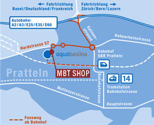 Plan von MBT Shop Aquabasilea